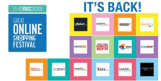 Get Ready for Great Online Shopping Festival 2013 by Google India on 11th, 12th & 13the December 2013