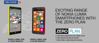 RCom introduces 'Zero Plan' for Nokia Lumia 1520 and Lumia 1320 with Unlimited benefits