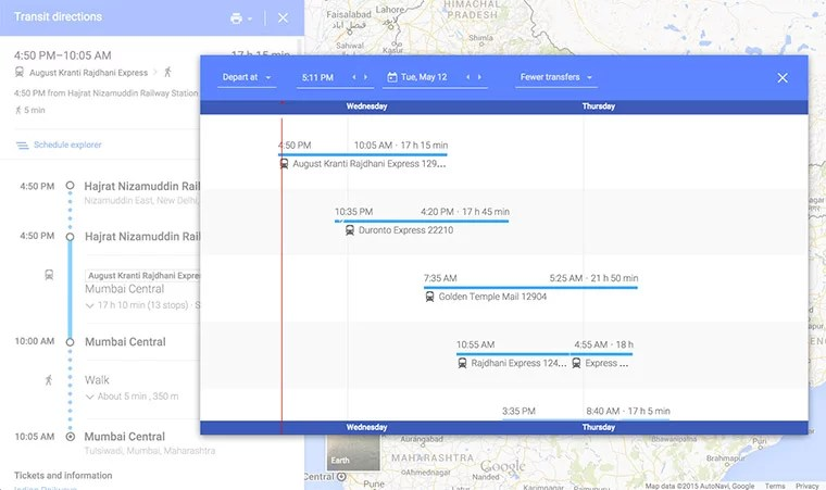 Now Plan your Train, Metro & Bus travel using Google Maps Transit