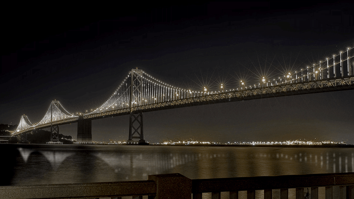 On March 5th, the San Francisco Bay Bridge was transformed into largest LED light sculpture in the world.