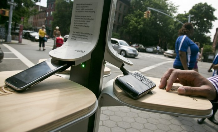 NYC Mobile Charging Stations. Photo: Bebeto Matthews.