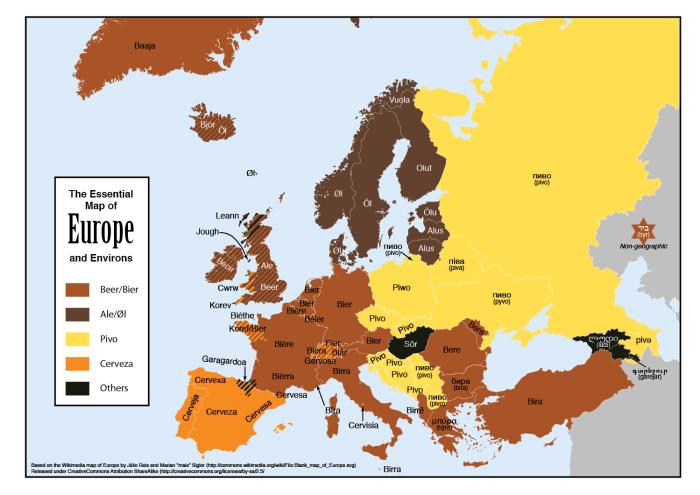 European Map of Beer