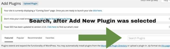 Screenshot 8 - Setting up WordPress general settings and Plugins