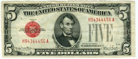 Five Dollar Bill.