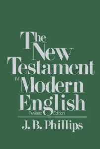 JB Phillips' The New Testament in Modern English book cover for the Revised Edition.