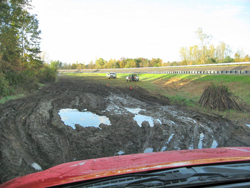Mud pit at Michigan Proving Grounds