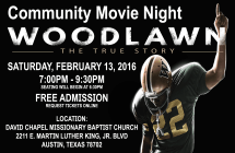 Community Movie Night- WOODLAWN