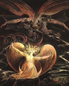 """William Blake, """"The Great Red Dragon and the Woman Clothed with the Sun"""""""