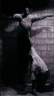 Departure, charcoal on paper 41 x 71
