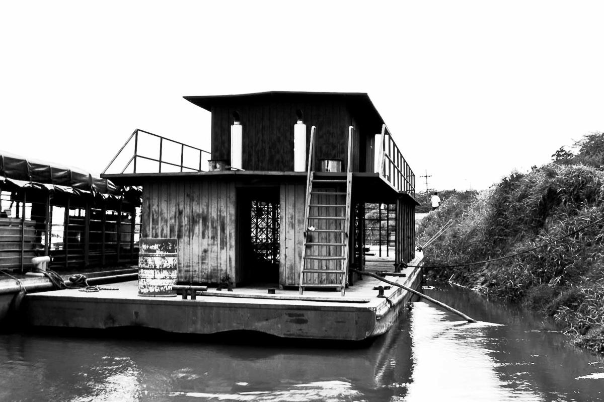 Port on the river Meta, Puerto López