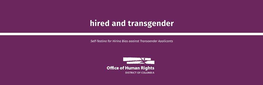 Hired and Transgender: Self-Testing for Hiring Bias against Transgender Applicants