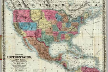 map of the united states, caa, mexico, central america