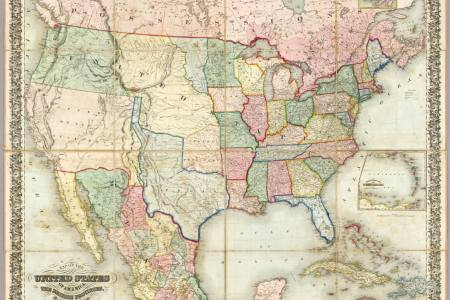 old maps of the united states