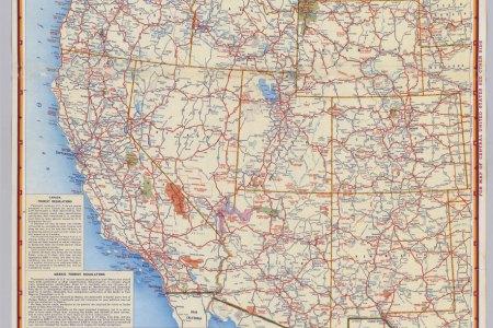 pics photos highway map western usa