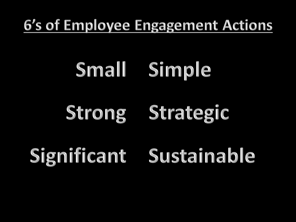 Zinger Employee Engagement 6's for Action