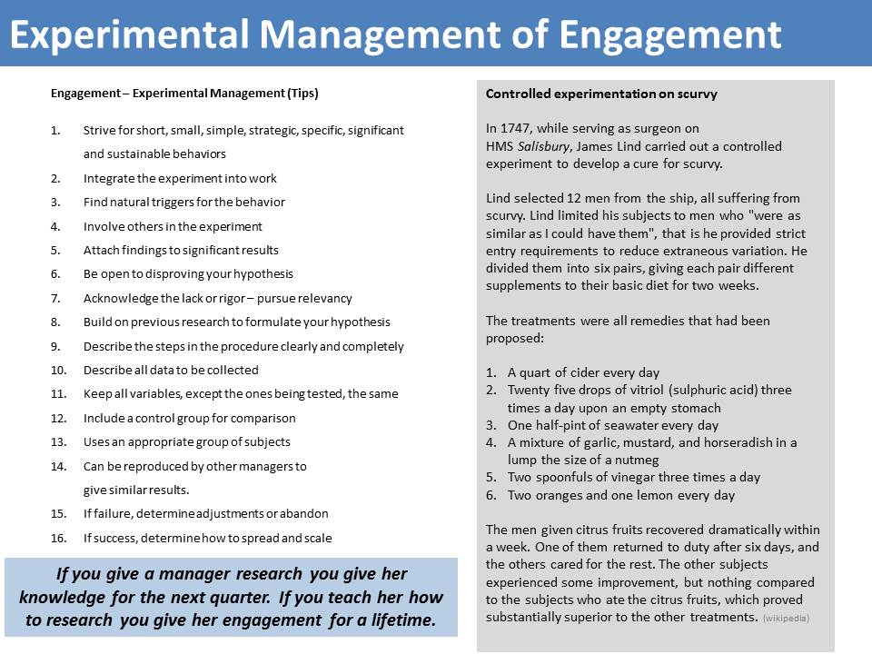 Employee Engagement Mastercall Experimental Page