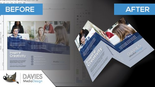 How to Create a Professional Brochure in GIMP   Davies Media Design How to Create a Brochure Mock Up in GIMP  2018