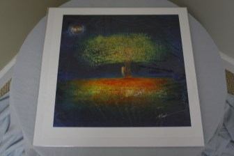 $45 VALUE - Tree and night sky print by artist Marvin Murphy