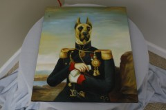 $50 VALUE - Colonial military dog painting by Dogma Catmantoo