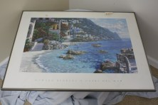 "$125 VALUE - Framed ""Capri Del Mar"" print by Howard Behrens donated by The Art Spot"