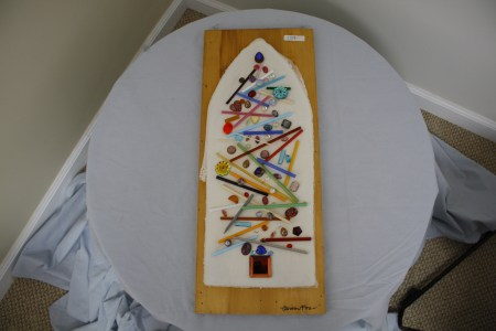 $159 VALUE - Colorful glass wallpiece by artist Alison Fox
