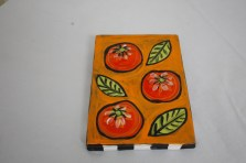 $45 VALUE - tomato and basil wallhanging by artists Toni & Jay Mann
