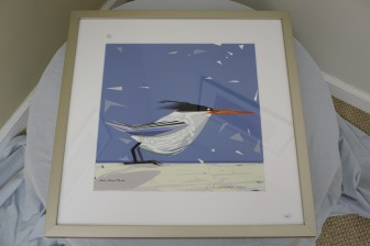 "$295 VALUE - ""One Good Tern"" framed digital drawing by artist Chuck Wimmer"