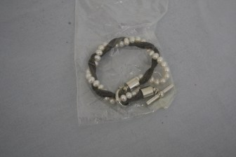 $45 VALUE - Pearl and mesh chain bracelet by artist Erica Zap