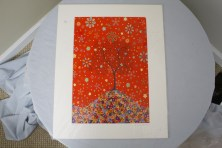 $45 VALUE - Red tree on a hill print by artist Lisa Loudermilk
