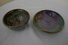 $43 VALUE - 3-tone ceramic bowl set of 2 by Yourist Studio Community artist