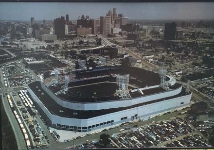 Framed photograph of Tiger's Stadium