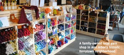 Knitting kit from Spun in Kerrytown