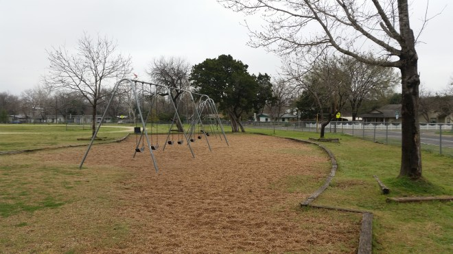 Swings at Dawson Elementary