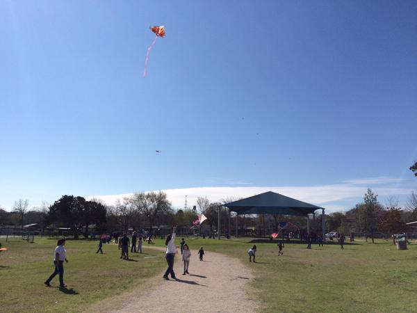 Kites, bubbles and drone photo ops at Dawson Elementary