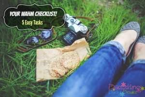work at home checklist