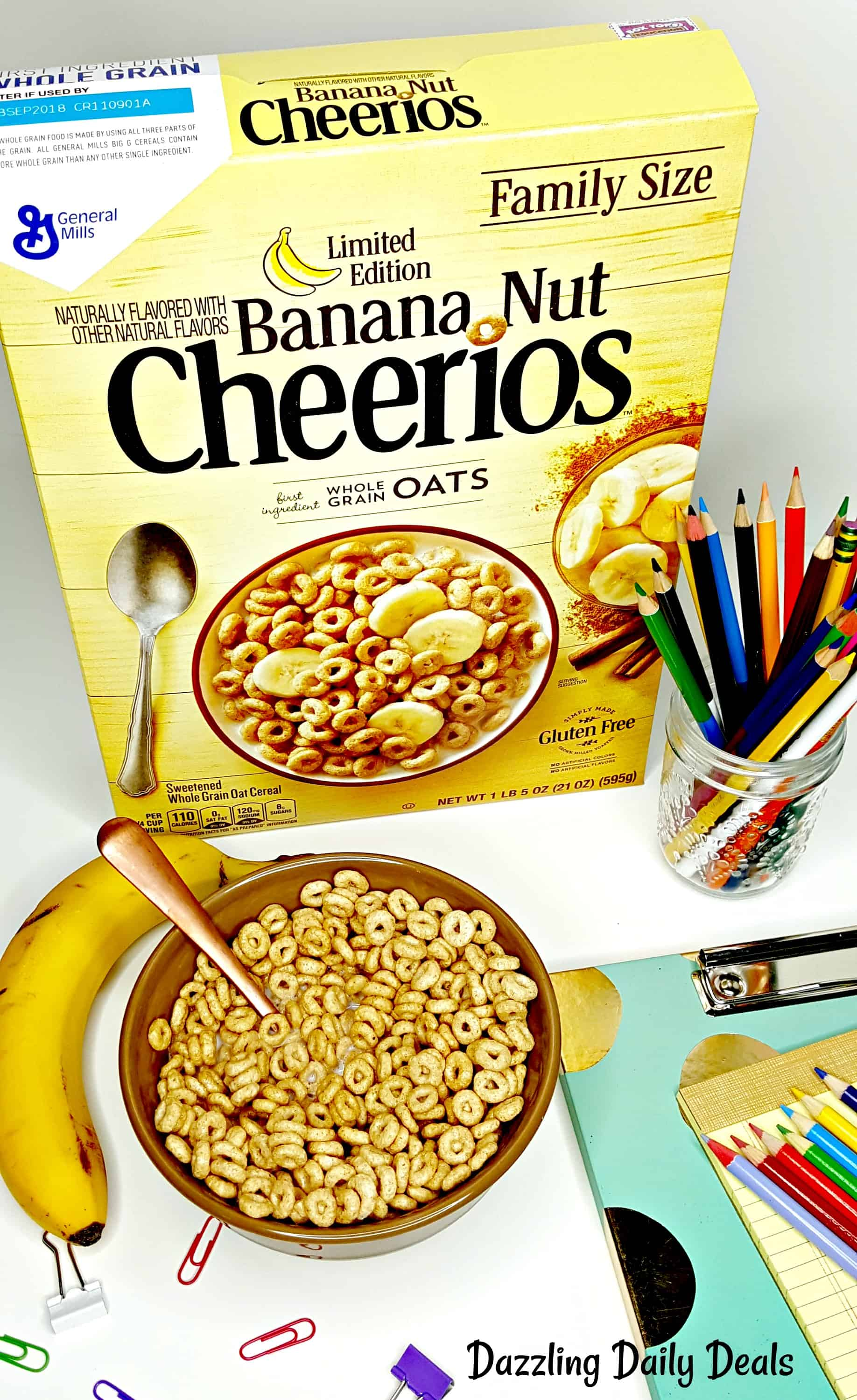 Reputable General Mills Banana Nut Leftover Pie Start Back To School Off Right I Have To Put My Footdown After All Holiday Treats My Kids Have Gotten Used Torunning Straight nice food Banana Nut Cheerios