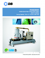 Poseidon-Water cooled variable speed screw chillers