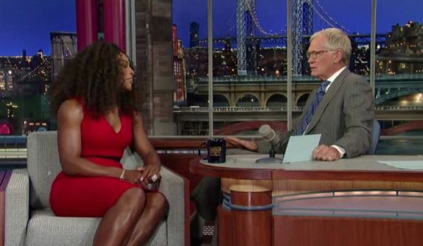 """Serena Williams Dress On Letterman Bring The """"Wow"""" Factor"""