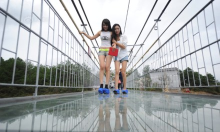 Glass walkway cracks China With Tourists On it (PHOTO)