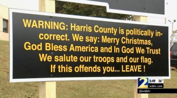 Georgia Sheriff Posts a Patriotic Sign - Media Says its Politically Incorrect