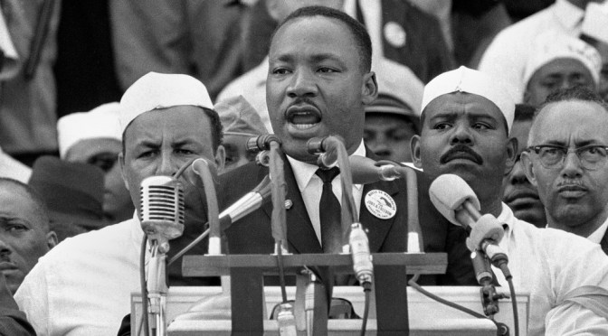 "Martin Luther King; His entire ""I Have a Dream"" speech"