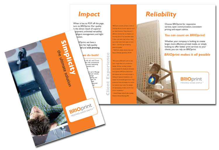 Standard Brochure Sizes  Applications and Dimensions US printer brochure design example
