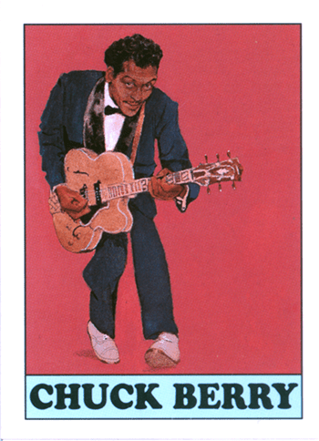 Illustration from Eclipse Comics BLOCKBUSTERS OF RHYTHM & BLUES Trading card set, 1994