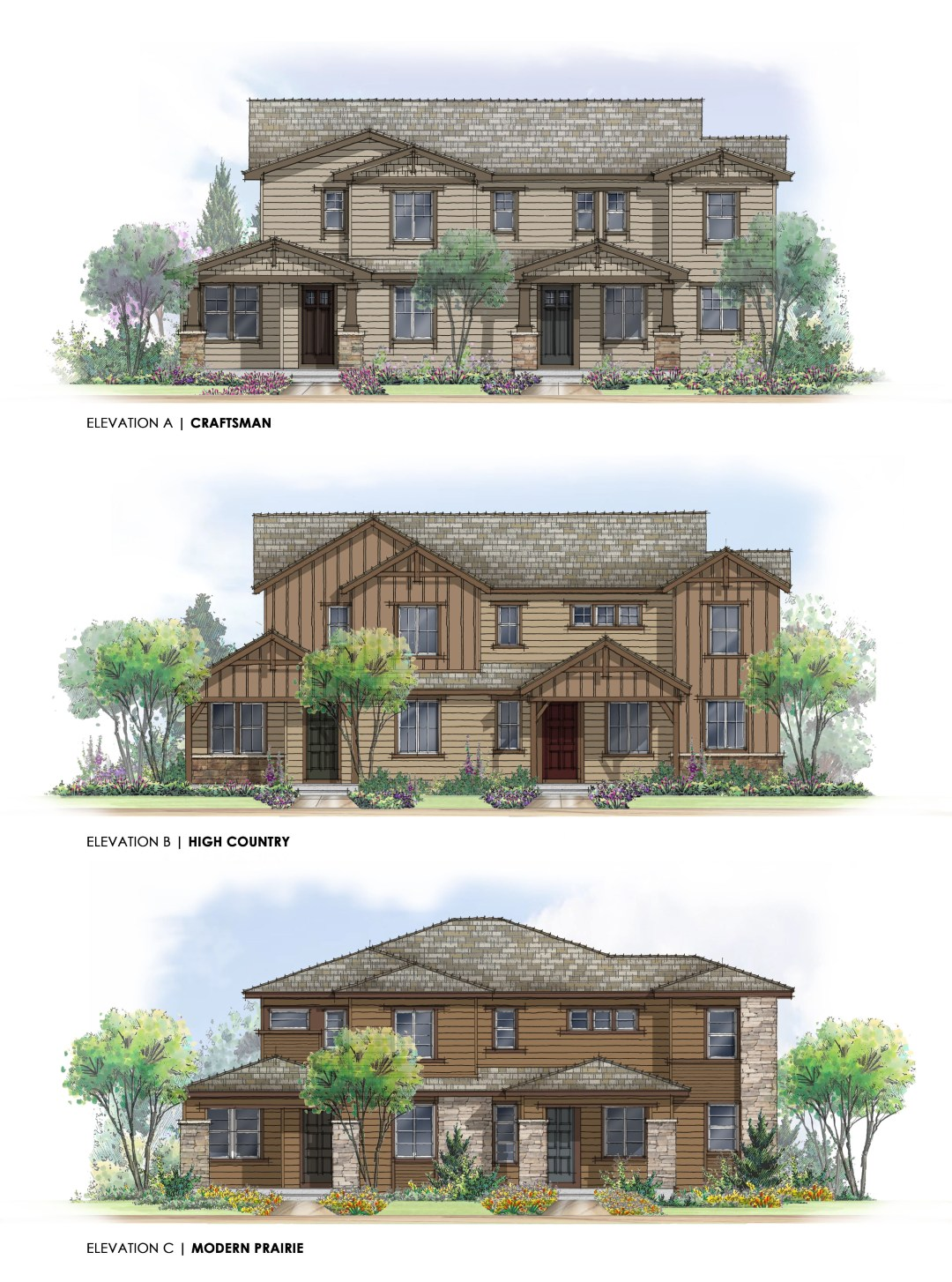 Duplex Front Elevations