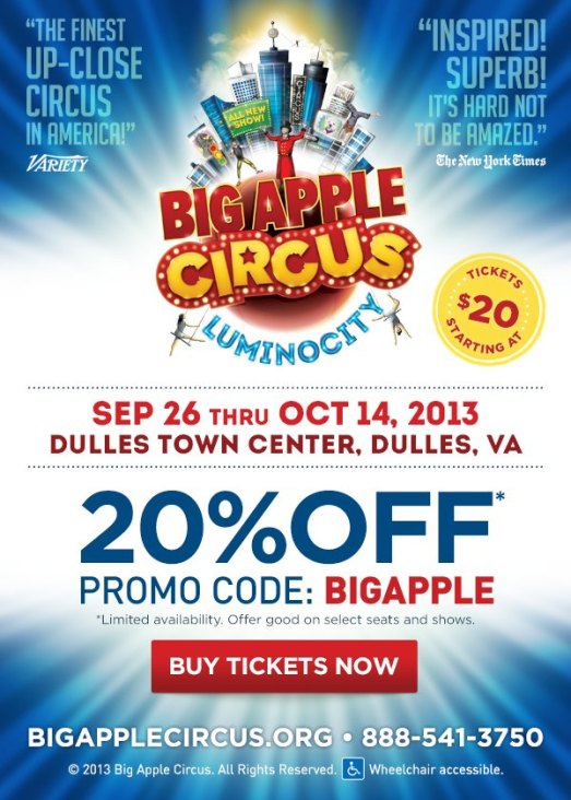 Big Apple Circus Discount