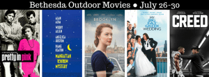 Bethesda Outdoor Movies 2016