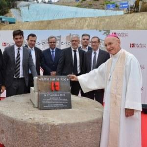 Pose de la 1ere pierre de l'Ecole Fénelon à Grasse
