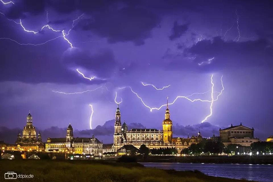 Blitze fotografieren - Gewitter fotografieren