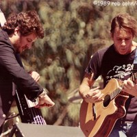"Dead Image: Bob Weir & Rob Wasserman, September 30, 1989, San Francisco, CA, ""Easy To Slip"", Golden Gate Park"