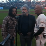 Jackie Greene, Bob Weir, Tim Flannery 8.1.2012 National Anthem